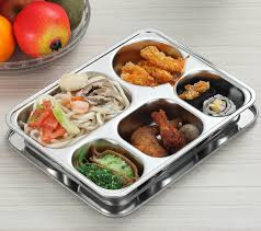 stainless steel insulation snack plate seal tray bento lunch box