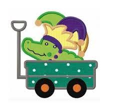 mardi gras alligator funstitch embroidery designs
