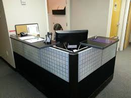 Glass Reception Desk Herman Miller Ethospace Reception Desk Glass Tiles Scp Office