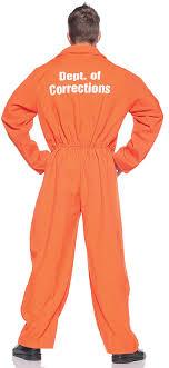 prison jumpsuit costume orange prison jumpsuit costume one size