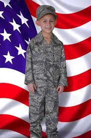 military halloween costume kids air force abu uniform 4 piece set