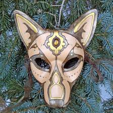 wolf masquerade mask gold jeweled wolf leather mask by merimask on deviantart