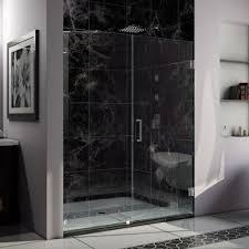 hinged glass shower doors dreamline unidoor lux 60 in width frameless hinged shower door