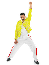 80 u0027s freddie mercury rock legend costume fs2282 fancy