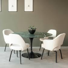 saarinen dining table oval 198 cm espresso marble satin finish