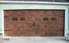 steel carriage garage doors remodelaholic faux wood carriage garage door tutorial