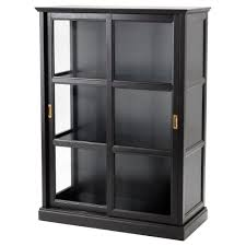 curio cabinet ello black glass curio cabinet desk chairish