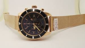 breitling gold bracelet images Breitling superocean rose gold replica watch with japan os 20 jpg