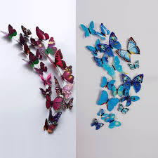 Amazon 12 Pcs 3D Butterfly Wall Stickers Art Decor Decals