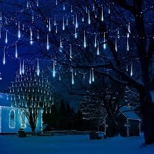 christmas lights that look like snow falling meteor shower rain lights 30cm 8 tubes drop icicle snow falling