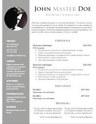 free resume template word document modern download free word doc resume templates free word document