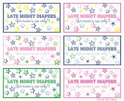 late night diapers baby shower printables baby shower games