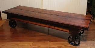 coffee table vintage industrial coffee table on wheels for sale at
