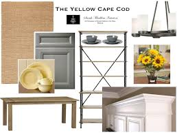 the yellow cape cod warm and sunny kitchen family room