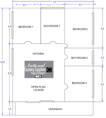 floor plan 9 0 x 12 0 converted into three bedrooms two