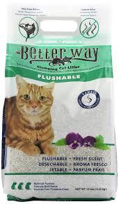 amazon com better way flushable cat litter 12 pound bag pet