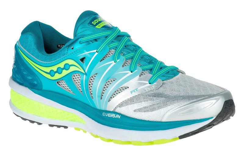 Saucony Hurricane Iso 2 Blue/Silver/Citron Ankle-High Running Shoe 7.5M