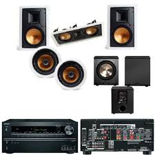 7 1 home theater speakers amazon com klipsch r 3650 wii in wall system 2 r 5502 wii free