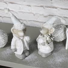 set of 2 mice ornaments melody maison