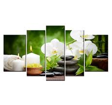 amazon com youkuart9802 5panel spa with bamboo and plumeria wall