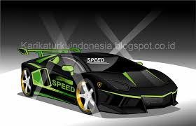 mobil balap lamborghini karikaturku indonesia mewarnai mobil sport lamborghini