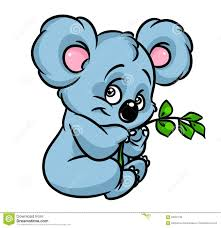 koala eucalyptus branch cartoon stock illustration image 69491736