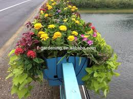 vertical garden hydroponic systems hanging fence railing flower