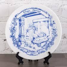 birth plate keepsake personalised heron china staffordshire blue birth plate the gift