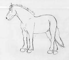 draft horse sketch by jaefeathered on deviantart