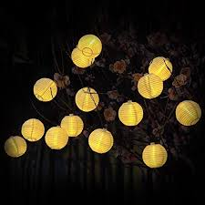 warm white outdoor globe lantern solar string lights innootech