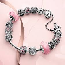 pandora bracelet with beads images Pandora clips safety chains