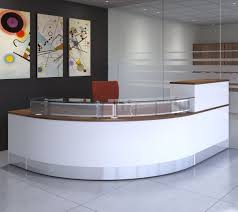 Reception Desk With Transaction Counter Fascinating Curved Receptionist Desk Enggineered Wood Construction