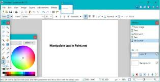 how to select and work with text in paint net
