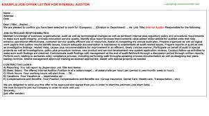 insurance auditor cover letter