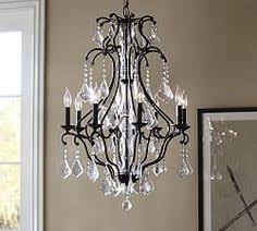 Pottery Barn Celeste Chandelier Paige Crystal Chandelier Bronze Finish Chandeliers Crystals