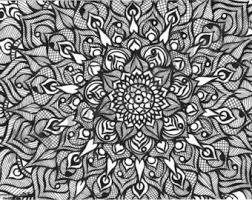 asymmetrica ashta mandala handmade zentangle mandala art