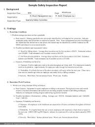 safety report sample appendix a state crash report example