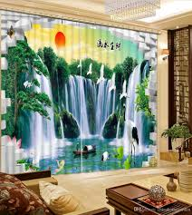 2017 classic home decor waterfall nature scenery bedroom blackout