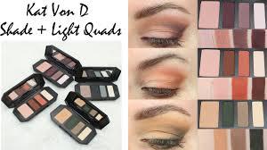 kat von d shade light quads review u0026 looks with plum rust