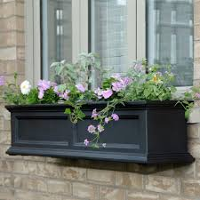 home depot planters mayne fairfield 11 in x 48 in plastic window box 5823w the