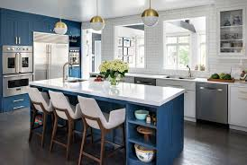 what color appliances with blue cabinets 15 gorgeous blue kitchen designs you ll want to re create