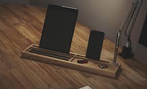 Wood Desk Organizer Machined Wooden Desktop Organizer Deskpal Cool Material