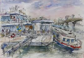 waterfront sketches at yeouinaru seoul urban sketchers