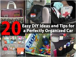 20 easy diy ideas and tips for a perfectly organized car diy