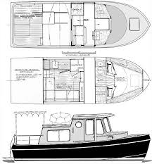 Free Wood Boat Plans Patterns by Coastal Cruiser 25 U0027 Trailerable Motoryacht Boat Design You Can Build