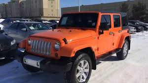 jeep sahara 2017 colors pre owned orange 2013 jeep wrangler unlimited 4wd 4dr sahara youtube
