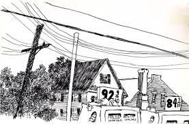 june 22 1979 5 am gas line fountain pen ink drawing third time