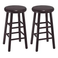 Bar Stool Sets Of 2 Winsome Wood Oakley 25 Swivel Seat Counter Stools Set Of 2