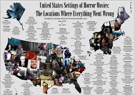 States In United States Map by Here U0027s A Us Map Showing Where Horror Movies Took Place