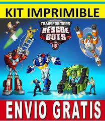 transformers rescue bots 1 edible cake or cupcake topper edible kit imprimible transformers rescue bots para invitaciones